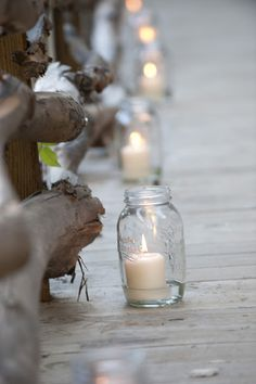 Got a lot of mason jars that you don't need? Guys, I've found so many creative ways to use them for your wedding decor! Mason jars are ideal as centerpieces – just add some water, flowers and stones on the bottom! Chic Wedding, Rustic Wedding, Our Wedding, Dream Wedding, Wedding Pins, Trendy Wedding, Wedding Beach, Wedding Venues, Wedding Photos
