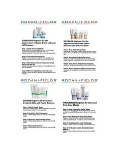 4 x 6 Rodan Fields Regimen Instructions by USAMadeStickerShop