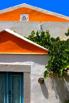 Facade, Symi island, Dodecanese, Greece. Photo by Marie Therese Magnan