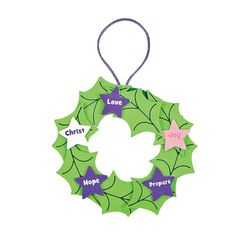 Advent Christmas Ornament Craft Kit - OrientalTrading.com $6.50/12kits