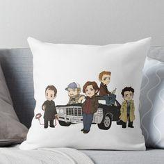 Supernatural Cartoon Design Throw Pillow