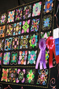 Prize Winner, Applique Quilt by cobalt123