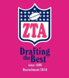 This was our bid day theme this year. I <3 football and ZTA!