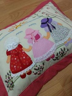 Crafts:Quilting-Doll, Sunbonnet Sue, Overall Bill(Sam),& Angels Quilts Applicates Quilt Patterns Free, Applique Patterns, Applique Quilts, Applique Designs, Embroidery Applique, Machine Embroidery, Quilt Baby, Quilting Projects, Sewing Projects