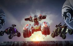 Download wallpapers Switchblade, 2018, robots, poster, 4k, ATVs, new games