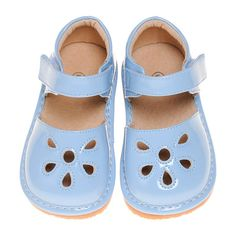 Comfortable Casual Girl's Lavendar Petal Toddler Shoes with Leather Lining Squeaky Shoes, Toddler Shoes, Crocs, Sandals, Southern, June, Casual, Sky, Leather