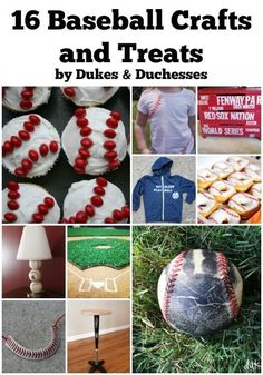 It's baseball season!  Time to celebrate that little-leaguer, right?  Baseballs are so easy to recreate {way easier than a soccer ball!} and there are so many fabulous ideas out there!  I've collected 16 baseball crafts and treats that'll get you a grand slam this baseball season! Baseball Crafts handprint baseball souvenir baseball hoodie baseball shirt baseball … #baseballtreats