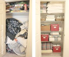 Hall closet makeover in 6 easy steps!