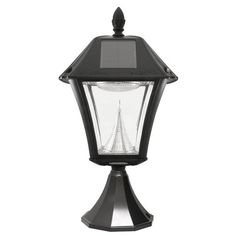 The Gama Sonic Baytown II solar light fixture model with bright-white LEDs is the perfect energy-saving and money-saving replacement for post-mounted electric or gas-powered outdoor lighting. Made from heavy-duty rustproof, weatherproof, black resin, Solar Post Lights, Outdoor Post Lights, Outdoor Lighting, Outdoor Lantern, Lighting Ideas, Solar Lanterns, Solar Lamp, How To Make Lanterns, Outdoor Light Fixtures