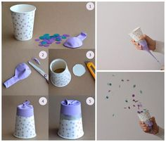 confetti, diy, and party image Diy For Kids, Crafts For Kids, Diy And Crafts, Arts And Crafts, Diy Confetti, Confetti Poppers, Ideias Diy, Ideas Para Fiestas, Party Time