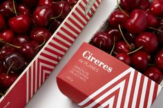 package design for Cooperativa De Planes // Modern Typeface, Typography Layout, Food Packaging Design, Typographic Design, Food Design, Graphic Design Inspiration, Cherry, Fruit, Eat