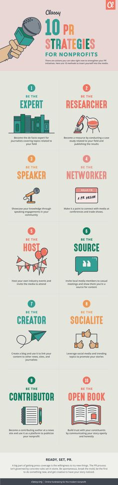10 PR Strategies for Your Nonprofit #Infographic #PublicRelations