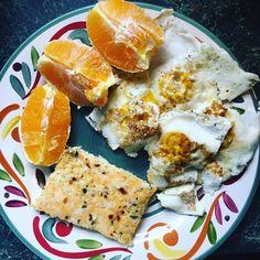 Flashback to breakfast. Eggs and oranges. And some cauliflower breadsticks made by Nana. . . . . . . #newmom #postpartum #fitmom #postpartumfitness  #breastfeeding #breastfeedingmom #nursingmom #healthcoach #iin #nutritionschool #iinhealthcoach #holisticnutrition  #integrativenutrition #healthcoaching #nourishment #takebackpostpartum #postpartumweightloss #eatarainbow #paleo #eatclean #cleaneating #latergram #grainfree #breakfast #eggs #orange