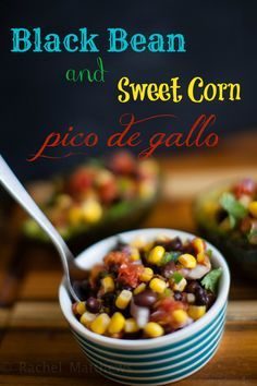 Perfect football and party food - this black bean and sweet corn pico de gallo is easy to make and delicious!