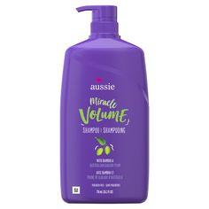 For Fine Hair – Aussie Paraben-Free Miracle Volume Shampoo w/ Plum & Bamboo Curl Shampoo, Shampoo And Conditioner, Aussie Conditioner, Aussie Miracle Volume, Miracle Curl, Aussie Hair Products, Hair Cleanse, Prune, Best Shampoos