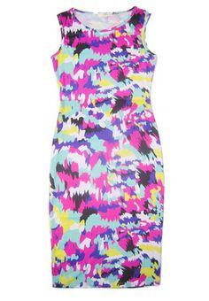 Nouveau printemps femmes de la mode d'été tenue décontractée plage de mode col de O manches Floral Splash imprimé robe moulante Celeb débardeur en robes de Vêtements & Accessoires sur Aliexpress.com   Alibaba Group