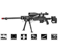 Well MB4411B Bolt Action Spring Sniper Rifle Airsoft Gun ( Black )