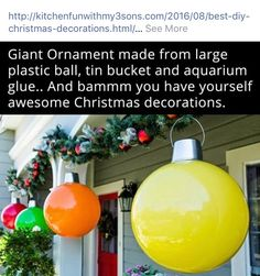 35 christmas diy outdoor decor ideas that will wow your neighbors 35 christmas diy outdoor decor ideas that will wow your neighbors this year pinterest red christmas ornaments red christmas and christmas ornament solutioingenieria Images