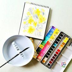 Watercolor artist and her website/tutorials