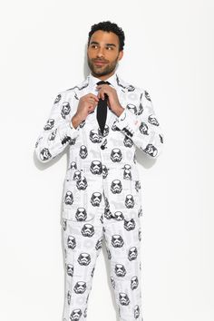 Stormtrooper™ Suit from OppoSuits. Close the blast doors! We know there's a bit of darkness inside of you. We can sense it. #starwars #stormtrooper #opposuits