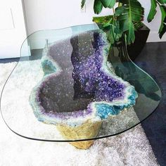 Feel Free to Charge your Drinks ✨✨ #Amethyst  Geology Wonders