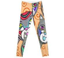 Catheads Rule with Orange Swirls Leggings Swirls, Custom Design, Pajama Pants, Leggings, Orange, Shopping, Fashion, Bespoke Design, Sleep Pants