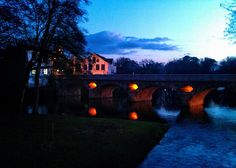 Boa noite :D O lusco-fusco de hoje no rio Vez junto à Ponte Velha de Arcos de #Valdevez - http://ift.tt/1MZR1pw -