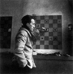Portrait of Marcel Duchamp by Denise Bellon, 1937