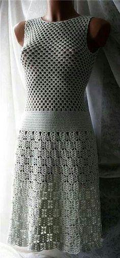 Vestido de Crochê simples e lindo