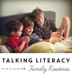 Literacy talks at home. - Home Literacy Blueprint