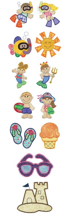 Embroidery | Free Machine Embroidery Designs | Summer Daze Applique