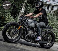 BMW custom cafe racer Cafe Racer Style, Custom Cafe Racer, Cafe Racer Bikes, Bike Style, Cafe Racers, R Cafe, Moto Cafe, Cafe Bike, Bmw Boxer