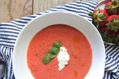 strawberry and tomato gazpacho | Chase the Flavors