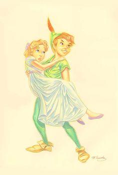 Peter & Wendy: By Manuel Hernandez, Disney Fine Art