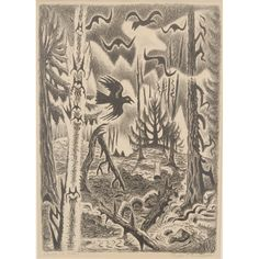 Burchfield, Charles  Crows in March  lithograph on wove paper