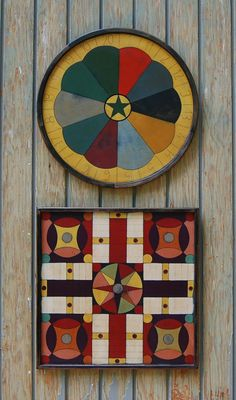 gypsy penny pitch and caravan parcheesi diane allison-stroud reproduction game boards