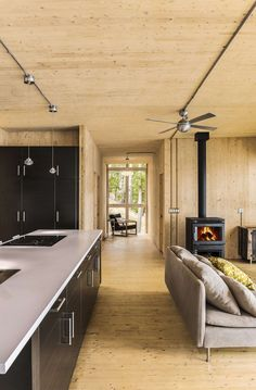 Prefab Lake Cottage with Cross Laminated Timber Construction | Modern House Designs