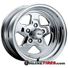 Pacer Dragstar 15x7 Polished Wheel  Rim 5x5 with a 0mm Offset and a 8300 Hub Bore Partnumber 521P5773 -- Click on the affiliate link Amazon.com on image for additional details.