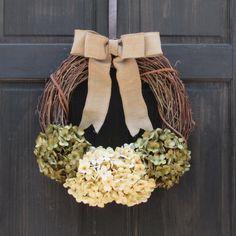Front Door Wreath, Hydrangea Wreath, Christmas Wreath, Grapevine Wreath, Holiday Wreath, House Warming Gift, Rustic Wreath, All Year Wreath