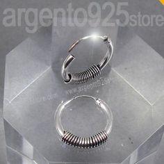 Orecchini-Unisex-cerchio-Uomo-Donna-12-mm-Argento-925-ETNIK-Spiral-bo