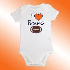 Baby Bodysuit Jersey Shirt  I Love Bears by EmbroideryBeauty
