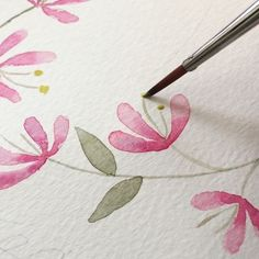 Flower painting doesn't have to be complicated. Keep it simple! Here's an easy flower tutorial to help you practice some basic painting strokes. #ditutsketchbook #watercolor #watercolorvideo #tutorial #flowerpainting #tutorial