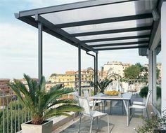 Pergola de hierro en terraza
