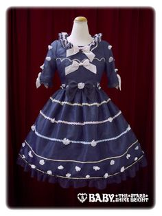 The night of the starry flowers one piece dress