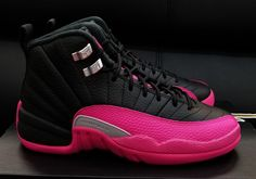 check out f6c1c c4068 Jordan 12 Black Deadly Pink Release Date 510815-026