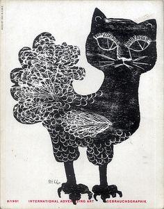 Gebrauchsgraphik 1961 08 Cover by by Gunther Stiller, via Flickr