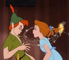 As frustrated as everyone was with this almost Wendy Pan scene, I think it's touching. Because Peter totally didn't want to kiss Wendy and tinker bell recognizing that because she is his best friend, stopped it. Peter wasn't quite sure to be relieved or not, but part of him probably was. Tinker Pan all the way <3