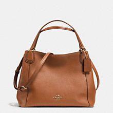 COACH Designer Purses | Edie 28 Shoulder Bag In Polished Pebble Leather