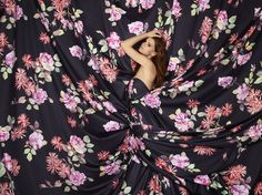 Elegant Floral Duvet Covers & Bedding Fabric - Schlossberg Sophia Noir.  Schlossberg's Sophia Noir duvet covers and bedding features a pattern of wild roses and Michaelmas daises on a deep midnight blue background.   http://www.jbrulee.com/cat-schlossberg-bonjour-of-switzerland-bedding.cfm