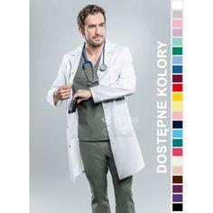 Fartuchy medyczne ze sklepu Dersa to połączenie funkcjonalności z modnym wyglądem. | Fartuch męski Hansa 2003 | odzież dla lekarza |